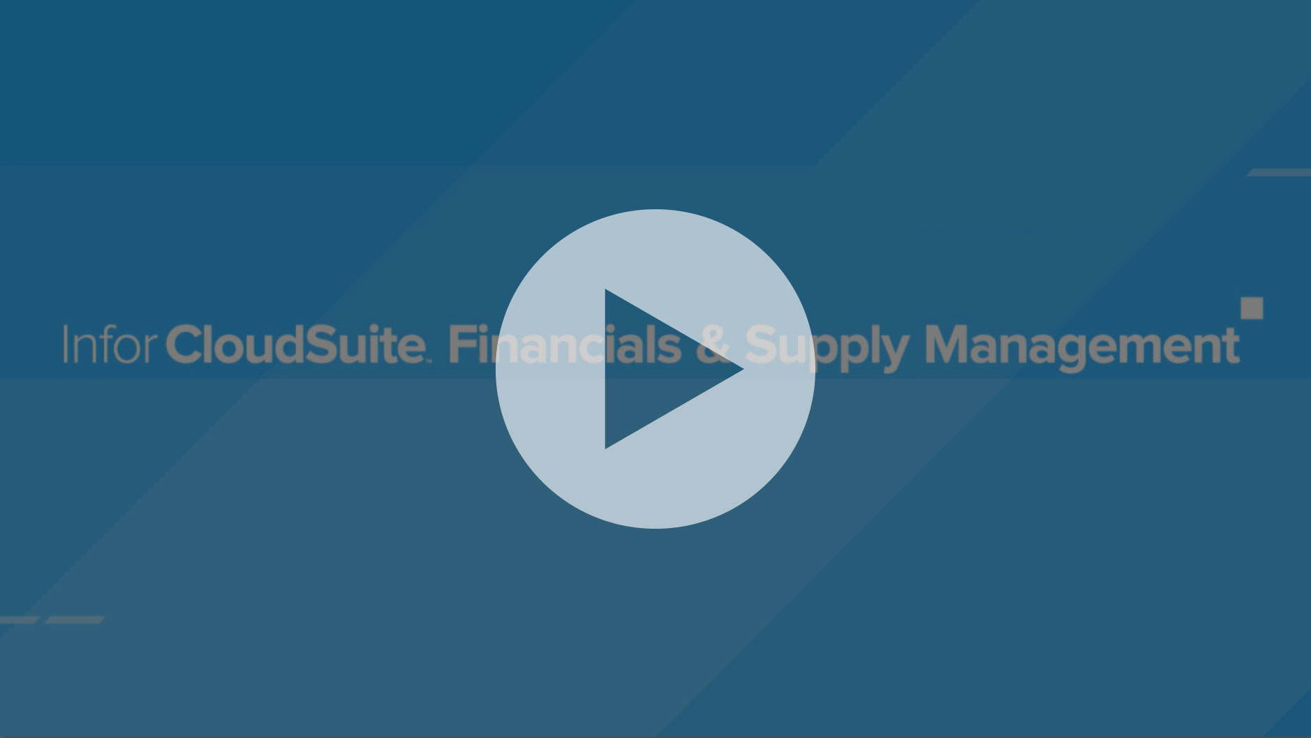 Finance and Supply Video Graphic