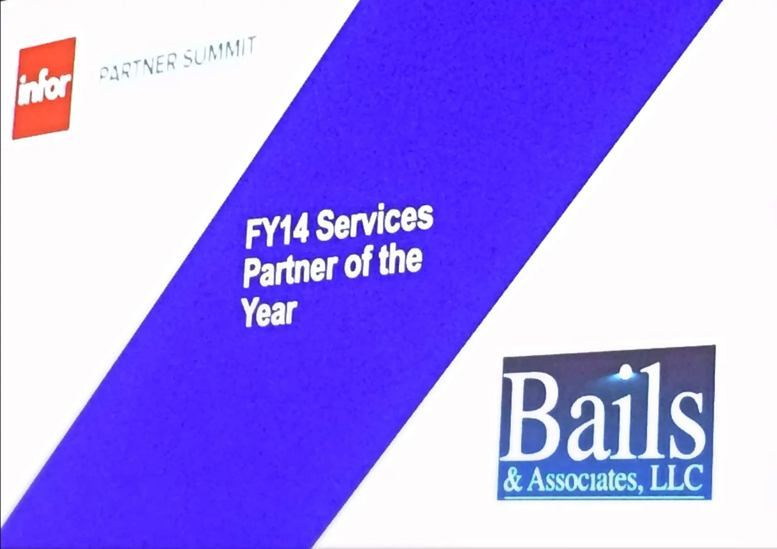 2015 Infor Partner of the Year Award Image