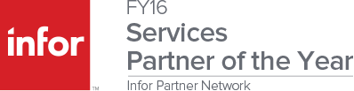 2016 Infor Service Partner of the Year Award Graphic