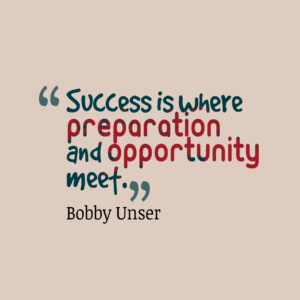Graphic of a quote about success